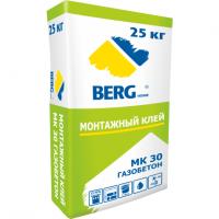 Клей для блоков из ячеистого бетона BERGhome МК - БЛОК 25 кг