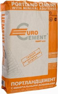 Цемент (М-500 Д-0) Евроцемент Воронеж ЦЕМ I/A - 42.5Н (50 кг) (34 меш)