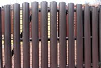 Штакетник металлический полукруглый и прямоугольный