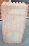 Кирпич фундаментный красный Волоконовка М150 рифленый.