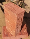 Рядовой полнотелый кирпич светлый  М 200 (350шт/под)