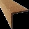 Уголок ДПК (декоративный, брашированный) для террасной доски Holzhof тиснение (полиэтилен) и универсальная (ПНД). для террасной доски