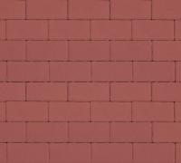 Плитка тротуарная красная 60 мм