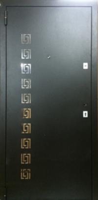 """Двери входные металлические - порошковая покраска """"черный муар"""" оптима"""