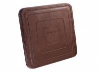 Люк полимер-песчаный квадратный 685х685мм h60 лаз (550х550мм) коричневый 30кН (3т)