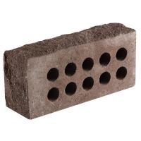 Кирпич облицовочный гиперпрессованный, одинарный Литос полнотелый, гладкий, рваный камень