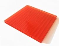 Сотовый поликарбонат SUNNEX (12 м,8 мм,Красный)