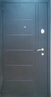 """Двери входные металлические - порошковая покраска """"черный муар"""""""