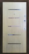"""Двери входные металлические - порошковая покраска """"черный муар"""" овалы"""