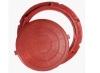 Люк полимер-песчаный D730мм h60 лаз 550мм красный