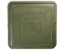 Люк полимер-песчаный квадратный 470х470мм h55 лаз (355х355мм) зеленый 30кН (3т)