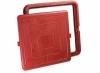 Люк полимер-песчаный квадратный 685х685мм h60 лаз (550х550мм) красный 30кН (3т)