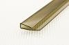 Профиль для поликарбоната торцевой UP 2,1 м 4 мм бронзовый