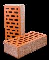 Кирпич керамический лицевой пустотелый рустированный (фр. 0,2-1 фр. 0,8-2 мм) 1 НФ